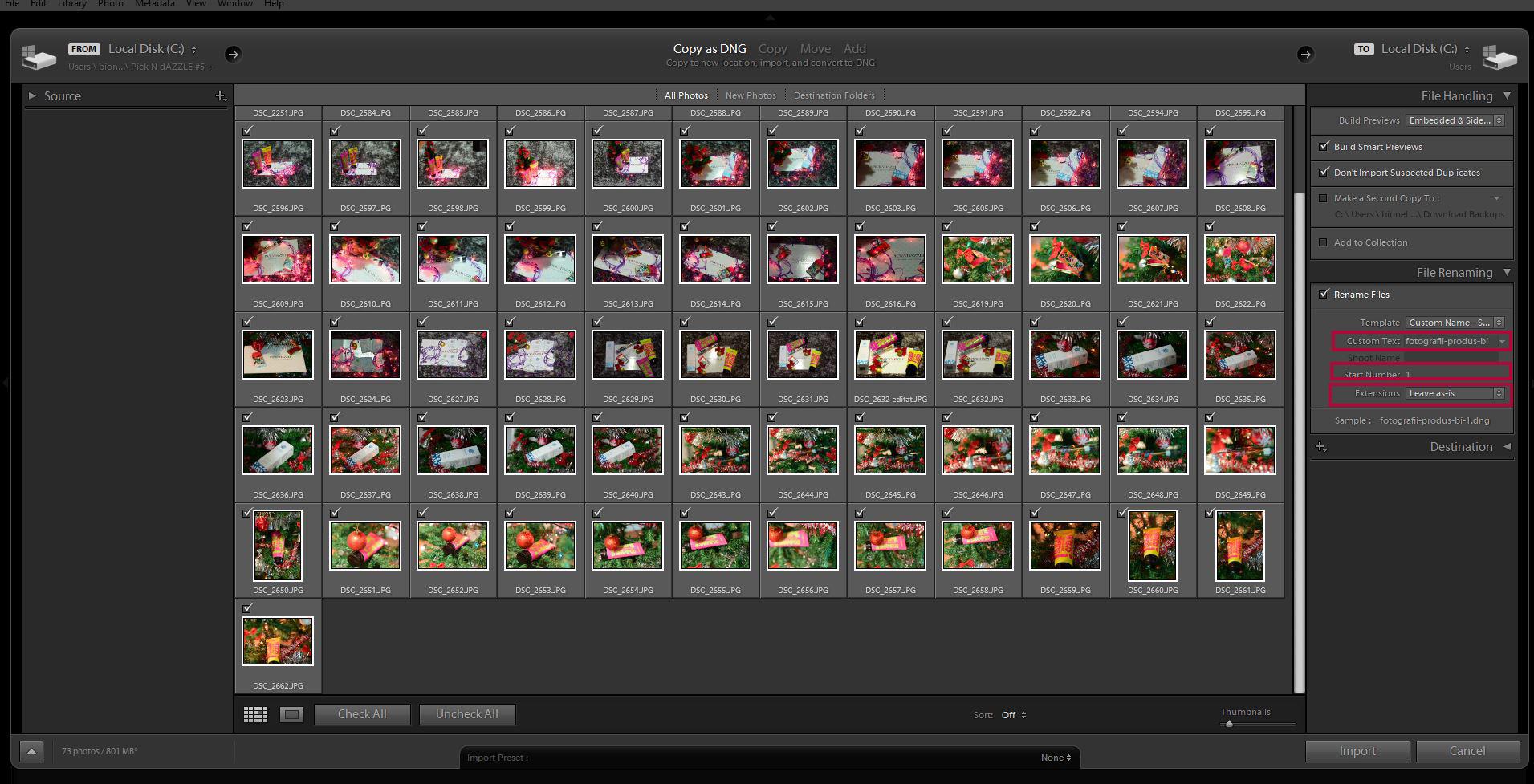 redenumire fotografie export lightroom seo pentru fotografi bianca ionel pasul 2