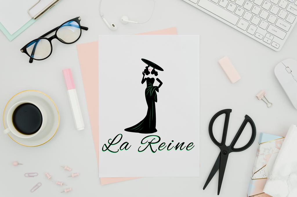 La Reine - o Maria Antoaneta a secolului XXI conturată într-un logo design bianca ionel